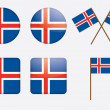 Badges with flag of Iceland — Stock Vector