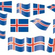 Flag of Iceland — Vettoriali Stock