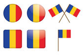 Badges with flag of Romania — Stock Vector