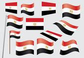 Mısır bayrağı — Stok Vektör