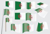 Bandera de argelia — Vector de stock