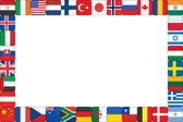 Frame made of world flag icons — Stock Vector