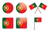 Badges with flag of Portugal — Stock Vector