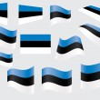 Flag of Estonia - Stock Vector