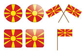 Badges with flag of Macedonia — Stock Vector