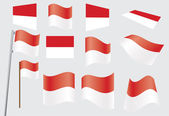 Flag of Monaco — Stock Vector