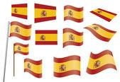 Flaga hiszpanii — Wektor stockowy