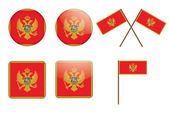 Badges with flags of Montenegro — Stock Vector
