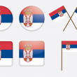 Badges with flag of Serbia — Stock Vector #11588819