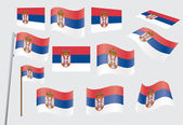 Flag of Serbia — Stock Vector