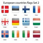 European countries flags set 2 — Stock Vector #11641154