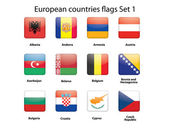 European countries flags set 1 — Stock Vector