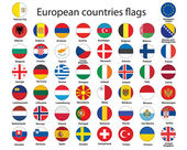 European countries flags — Stock Vector