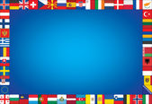 Background with frame made of flags — Stock Vector