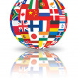 Sphere with flags of the world — Stock Photo