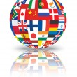 Sphere with flags of world — Stock Photo #11742466