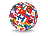 Sphere with flags — Stock Vector