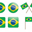Badges with flag of Brazil — Stock Vector #11786315