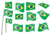 Flag of Brazil — Stock Vector
