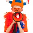 Dutch soccer supporter — Stock Photo #10817691