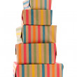Colorful wrapped presents — Stock Photo