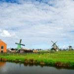 Windmills at the Zaanse schans — Stock Photo #11703815