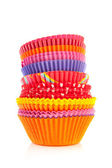 Colorful cupcake papers — Stock Photo