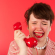 Crying on the phone — Stock Photo #12041674