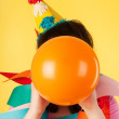 Blowing the balloon — Stock Photo #12041685
