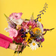 Stock Photo: Mixed garden bouquet flowers
