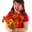 Getting colorful flowers — Stock Photo