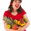 Young woman with fruit — Stock Photo #12041932