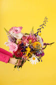 Mixed garden bouquet flowers — Stock Photo