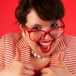 Funny thumbs up — Stock Photo #12189917
