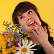 Getting colorful flowers — Stock Photo #12189934