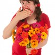 Getting colorful flowers — Stock Photo #12189946