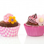 Row colorful cupcakes — Stock Photo #12415965