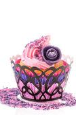Pink cupcake mit buttercreme — Stockfoto