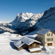 Stock Photo: Kleine Scheidegg - Chalets