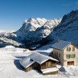 Kleine Scheidegg - Chalets — Stock Photo