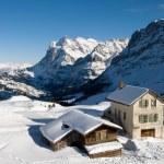 Kleine Scheidegg - Chalets — Stock Photo