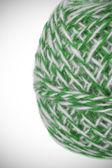 Ball of green white yarn — Stock Photo