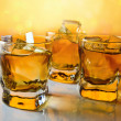 Whisky with ice . — Stock Photo