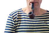 Seaman with a pipe — Stock Photo