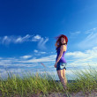 Young woman on a beach — Stock Photo #11836558