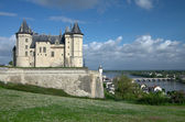 Castle of Samur over Loire — Stock Photo