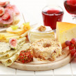 Catering cheese platter — Stock Photo