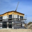 New family house under construction - 图库照片