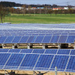 Solar panels for power production - 图库照片