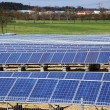 Solar panels for power production - Foto Stock